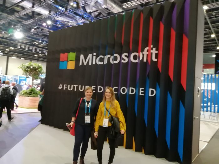 Danusia and Lucy at Future Decoded