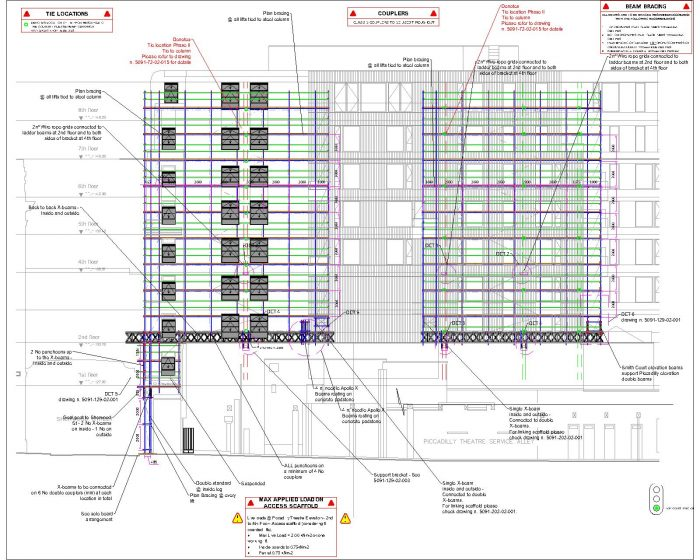 a scaled project  image of scaffolding for RDG